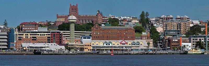 Newcastle, Australia.  Source: wikimedia user macr